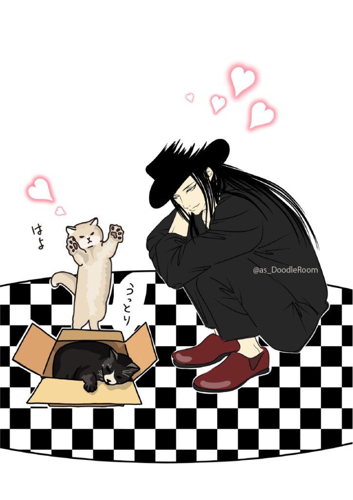 コラボ作品イケメンと猫
